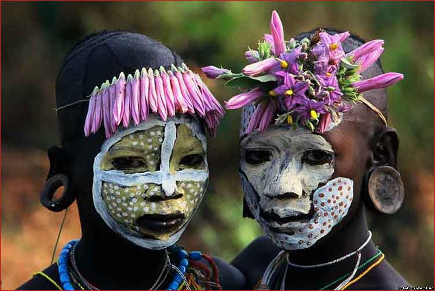 Фото девушек из диких племен 1 фотография